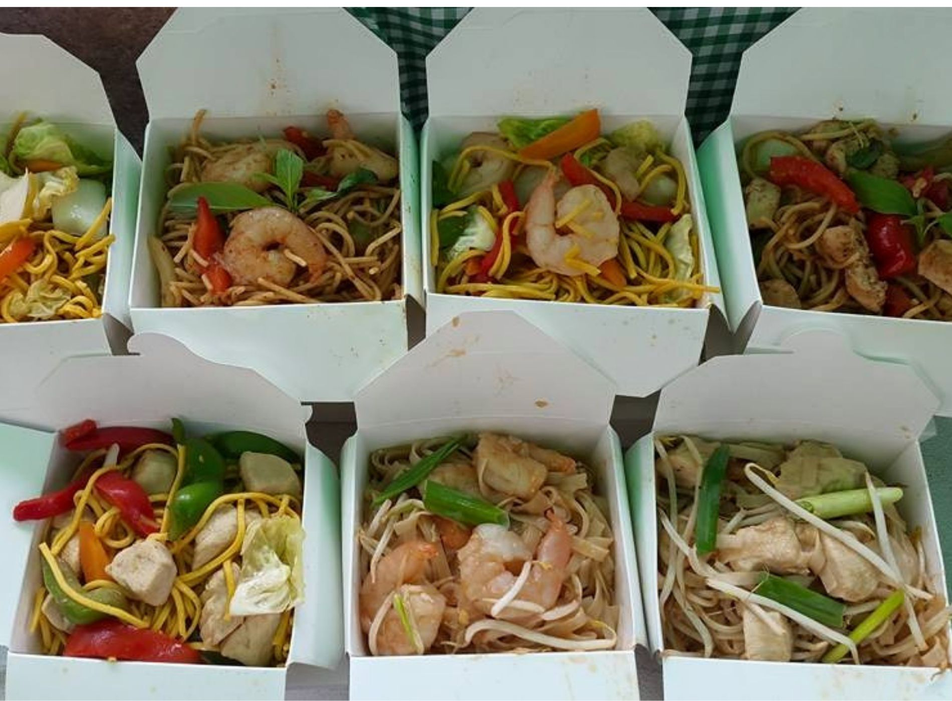 A selection of Thai food