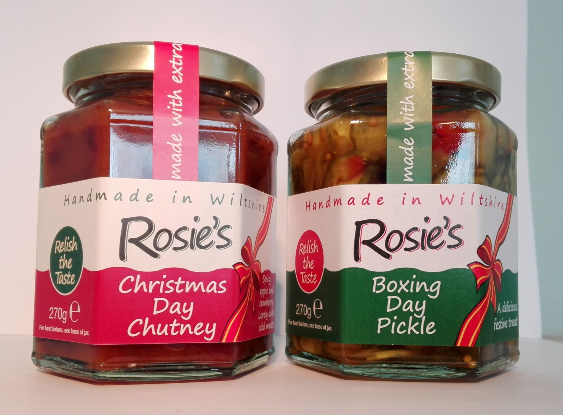 Christmas and Boxing day chutneys