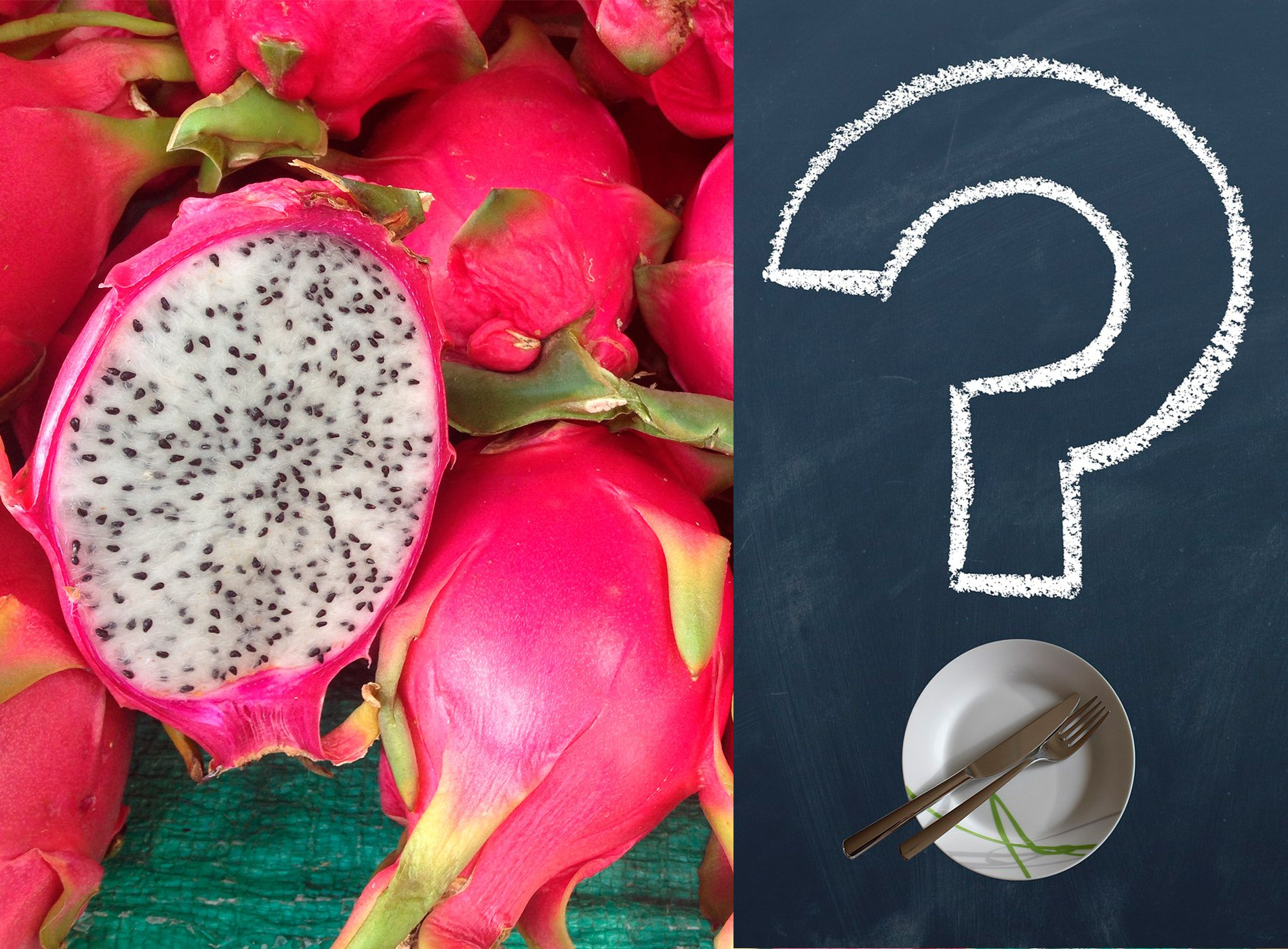 Dragon Fruit with question mark