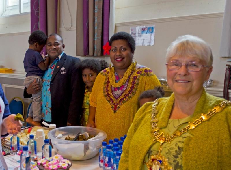 Fijian food stall in Devizes Corn Exchange