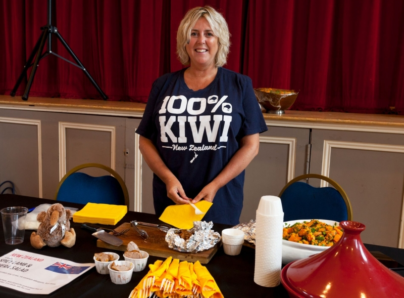 New Zealand food stallholder at Devizes Corn Exchange
