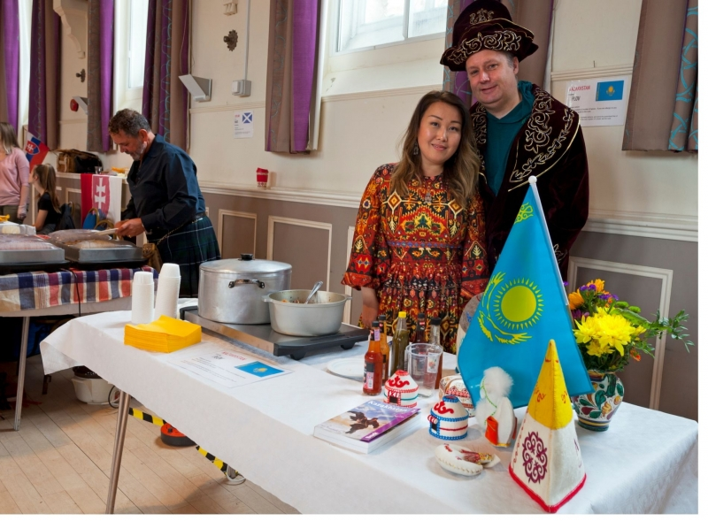 Scotland and Kazakhstan food stall