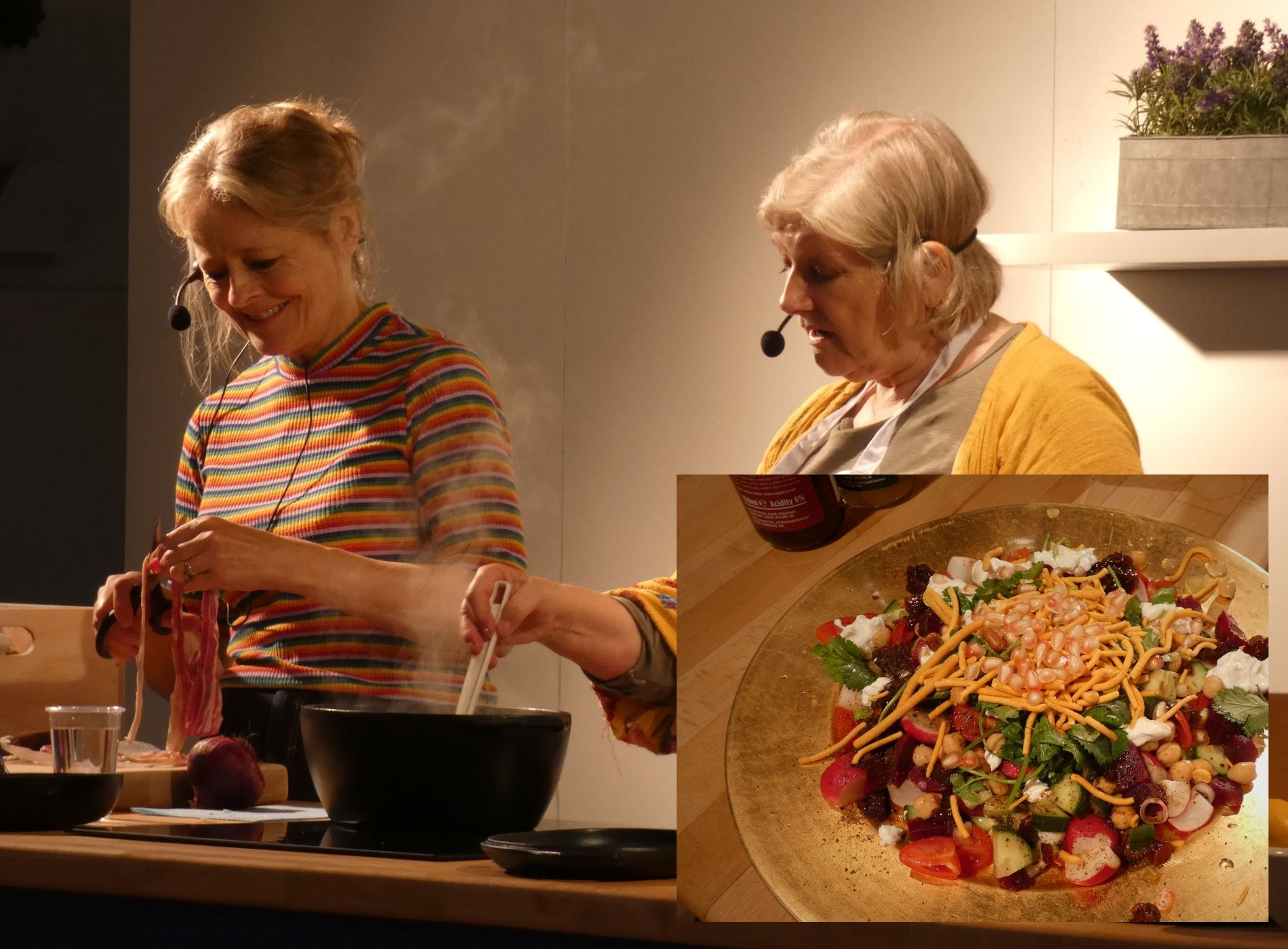 Xanthe, Roz and salad
